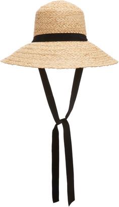 Janessa Leone Sammy Ribbon-Trimmed Straw Hat