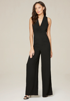 Bebe Wide Leg V-Neck Jumpsuit