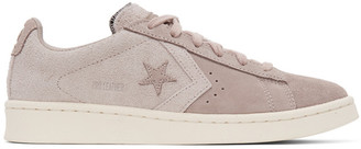 Converse Pink Suede Pro Leather OX Sneakers