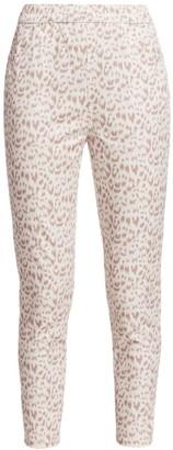 Joan Vass Petite Printed Animal Pants