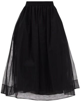 Simone Rocha Organza And Tulle Midi Skirt - Black