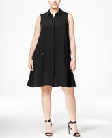 Alfani Plus Size Trapeze Shirtdress, Only at Macy's