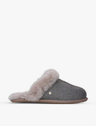 UGG Scuffette II textile and sheepskin slippers
