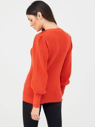 Very Puff Sleeve Jumper - Orange