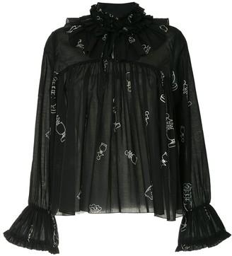Karen Walker Bad Bishop blouse