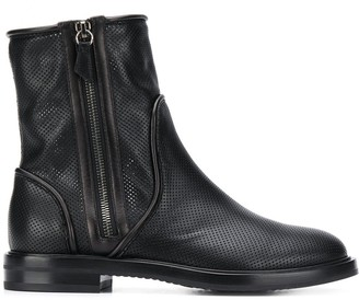 Casadei Perforated Ankle Boots
