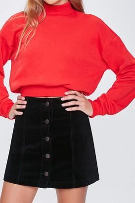 Forever 21 Corduroy Button-Up Mini Skirt
