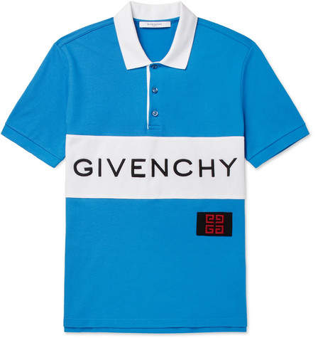Givenchy Slim-Fit Logo-Embroidered Cotton-Piqué Polo Shirt