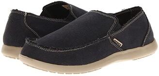 Crocs Santa Cruz (Black/Khaki) Men's Slip on Shoes