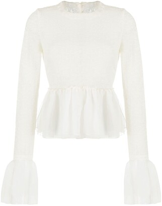 Renli Su Semi-Sheer Textured Blouse