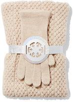 New York & Co. 2-Piece Pom-Pom Scarf & Gloves Set