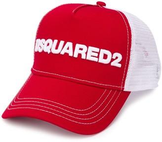 DSQUARED2 mesh panelled trucker cap