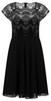 Dorothy Perkins Womens *Chi Chi London Black Short Sleeve Tea Dress, Black