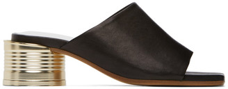 MM6 MAISON MARGIELA Black Can Heel Open Toe Sandals