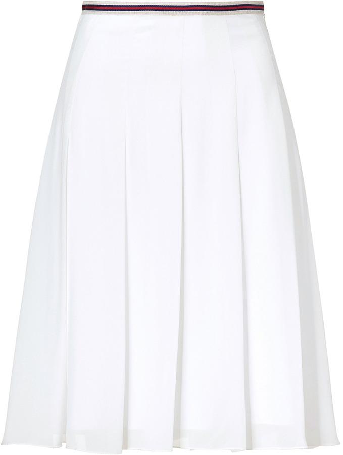 L'Agence LAgence White Pleated Skirt