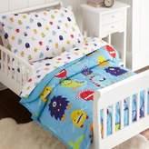 Olive Kids Monsters 4-Piece Toddler Bedding Set in Blue