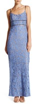 ABS by Allen Schwartz Scoop Neck Lace Gown