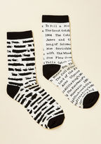Out of Print One for the Banned Books Socks in S