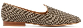 Giuliva Heritage Collection Venetian Prince Of Wales Check Wool Loafers - Womens - Brown Multi