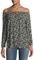MICHAEL Michael Kors Off-the-Shoulder Printed Tunic