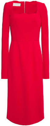 Antonio Berardi Scalloped Stretch-cady Midi Dress