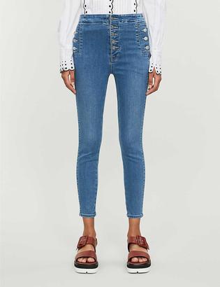 J Brand Natasha skinny high-rise stretch-denim jeans