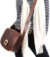 The Leather Store Brown Leather Cross Body Messenger Bag