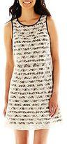 JCPenney Danny & Nicole® Sleeveless Lace Print Dress - Petite