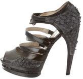 Jason Wu Fish Skin Platform Sandals