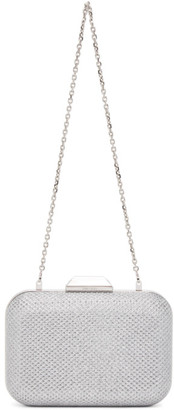 Jimmy Choo Silver XL Cloud Clutch