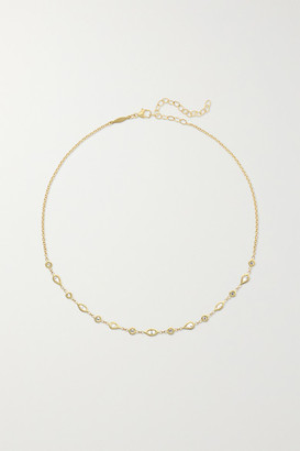 Jacquie Aiche 14-karat Gold Diamond Choker - one size