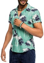 Scotch & Soda Palm Trees Slim Fit Button Down Shirt
