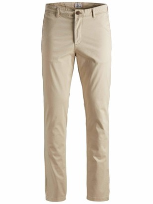 Jack and Jones NOS Men's JJIMARCO JJBOWIE SA WHITE PEPPER STS Trousers