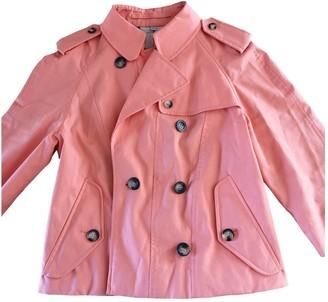Burberry Orange Cotton Trench coats