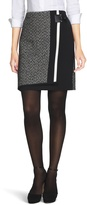 White House Black Market Tweed Mix Boot Skirt