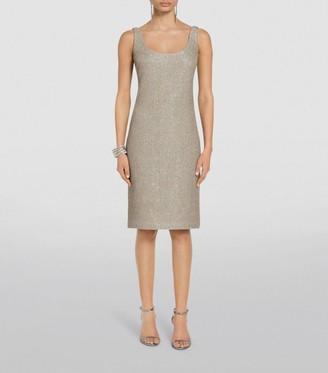 St. John Glittering Knit Mini Dress