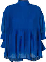 By Malene Birger pleated high collar blouse