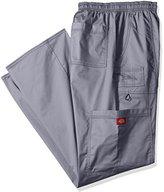 Dickies Men's Big and Genflex Contrast Drawstring Cargo Scrub Pant, Black, X-Large/Tall