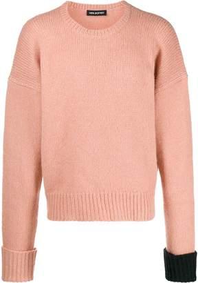 Neil Barrett oversized contrasting-cuff jumper