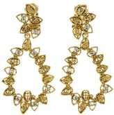 Oscar de la Renta Millegrain Petal Drop Earrings