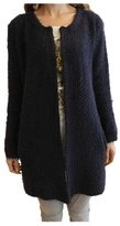 ARJOSA Women's Fashion Mohair Knitted Pockets Open Front Cardigan Jacket Outercoat ( Blue)