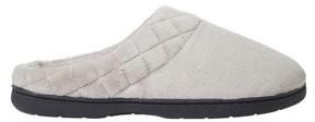 Dearfoams Woman's Microfiber Velour Clog w/Quilt Slippers
