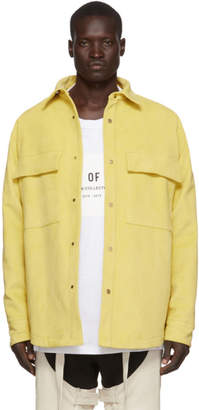 Fear Of God Yellow Ultrasuede Shirt