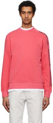 Moncler Red Logo Print Sweatshirt