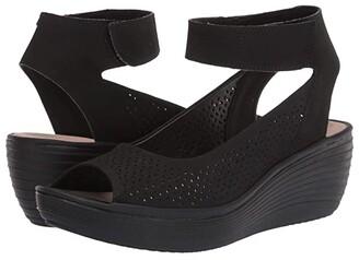Clarks Reedly Jump (Black Nubuck) Women's Shoes