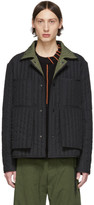 Craig Green SSENSE Exclusive Black and Green Quilted Worker Jacket