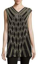 Dries Van Noten All Over Bead Sleeveless Top