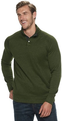 Sonoma Goods For Life Big & Tall SONOMA Goods for Life Supersoft Button Mockneck Sweater Fleece