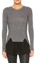 Top Secret Chiffon Ruffle Sweater