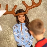 ChristmasShop Christmas Shop Inflatable Reindeer Antler Ring Toss Game